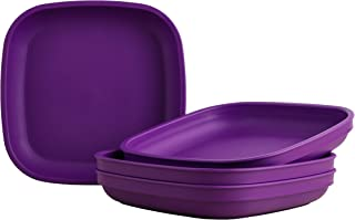 "product image for Re-Play Recycled Products Deep Walled Plates, Set of 4 (7.375"" Deep Walled Plates, Amethyst)"