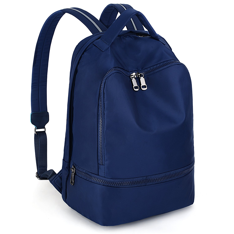 5953c72490ab Amazon.com  UTO Fashion Nylon Backpack Functional School Gym Sport Hiking  Bag Reflective Straps B Blue  Shoes