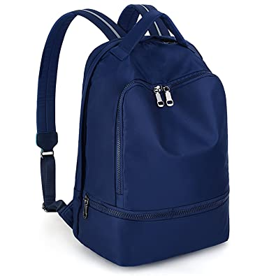 5953c72490ab Amazon.com  UTO Fashion Nylon Backpack Functional School Gym Sport Hiking  Bag Reflective Straps B Blue  Shoes