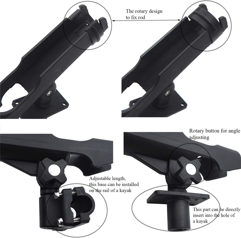 1PC Adjustable Side Rail Mount Kayak Boat Fishing Pole Rod Holder Tackle Kit USA