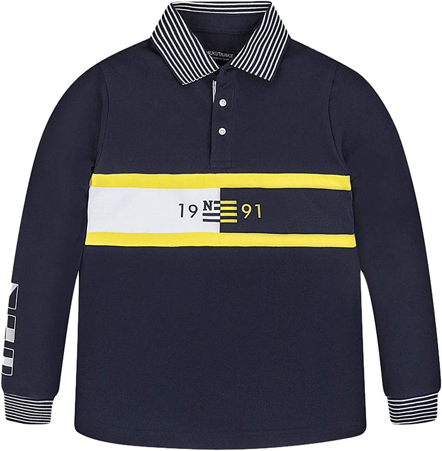 Mayoral, Polo Manga Larga para niño - 6145, Azul: Amazon.es: Ropa ...
