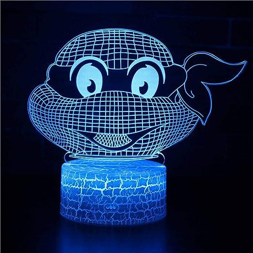 3D Lámpara óptico Illusions Luz Nocturna 7 Colores Cambio ...
