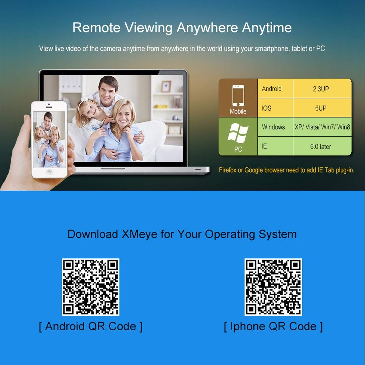 Ltd V1008WB ANRAN 8CH HD H.264 Home Security Surveillance Camera System 8 Channels Hybrid 5-in-1 DVR 1080P NVR 1080N AHD 960H Analog CVI TVI Digital Video Recorder Quick QR Code Scan and Easy Remote View Anran Security Technology Co