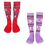 Ski Socks Kids Pack 2 Pairs Colorful Thicken Warm
