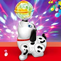 MWT TOYZ Cute Dancing Dog Toy with Reflected 3D Lights and Wonderful Music Battery Operated- Multicolor