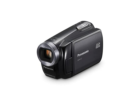 amazon com panasonic sdr s7 flash memory camcorder with 10x rh amazon com Panasonic SDR- H60P PC Microphones Panasonic SDR -H60