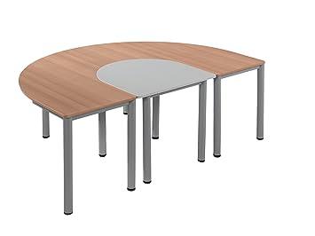Durchschnittliche Tischhöhe tisch halbes oval b t 79 x 80 cm tischhöhe 76 cm amazon de