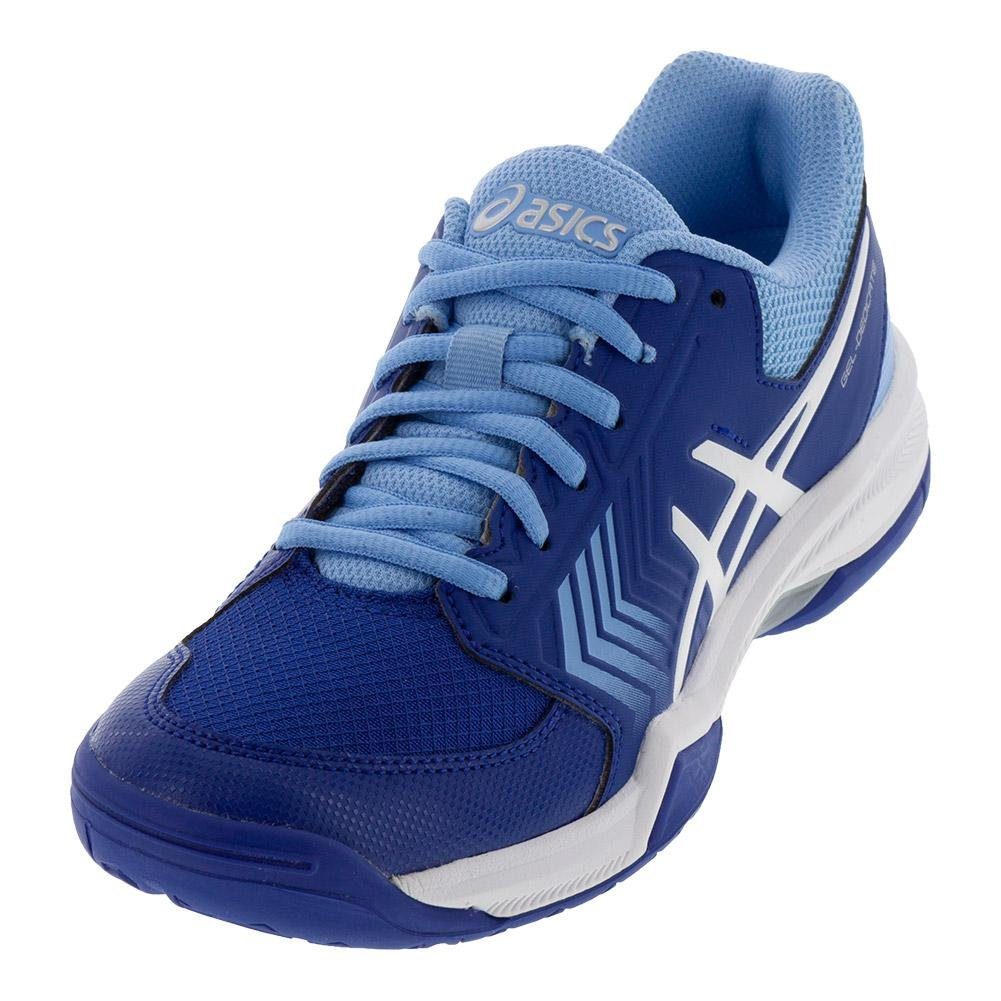 ASICS Women's Gel-Dedicate 5 Tennis Shoe B077NH3DV9 9.5 B(M) US|Monaco Blue/White