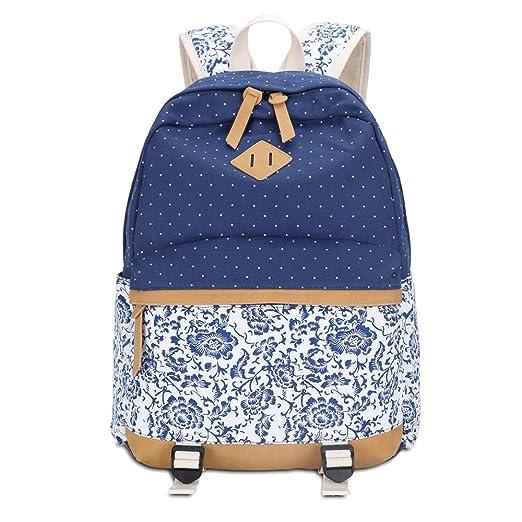 11 opinioni per Tela Zaino Scuola Casual Zainetto Ragazza Backpack Canvas (Blu)