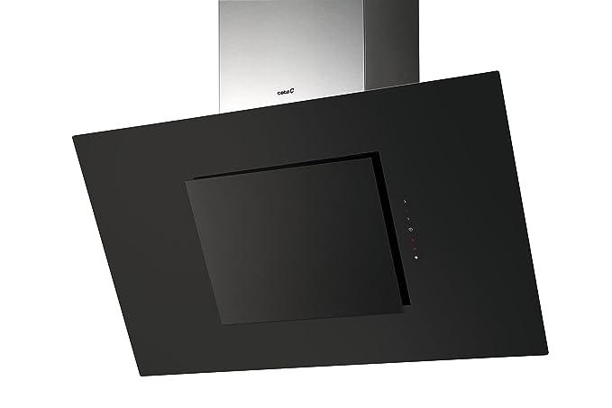 Luxus dunstabzugshaube cm kopffrei schwarzglas edelstahl design
