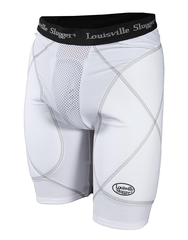 Louisville Slugger Mens Slugger Gold Shield Sliding Shorts