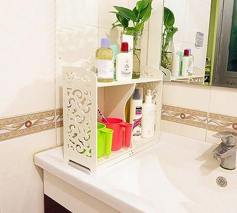 Amazon.com: Garden Style Bathroom Shelves Waterproof Storage Rack ...