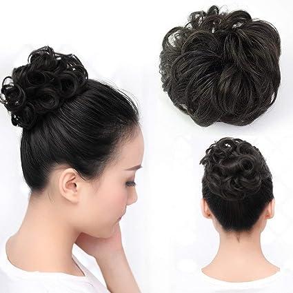 Wendy Hair - Extensiones de pelo ondulado rizado, color negro ...