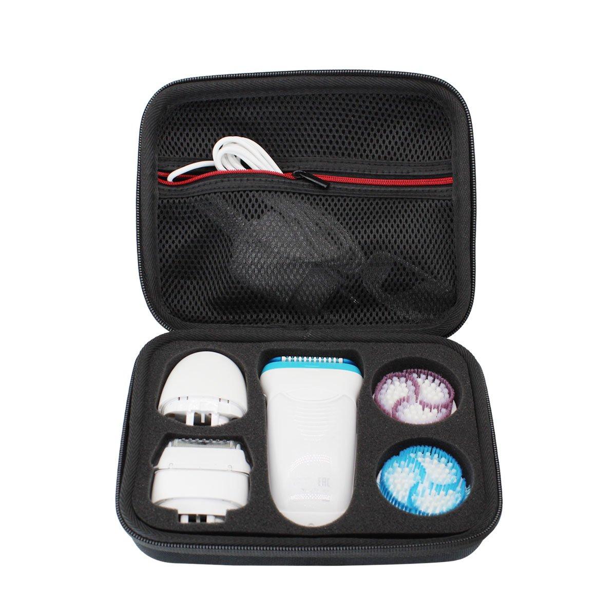 Hard Travel Case Bag for Braun Silk Epil 9 Women's Wet and Dry Cordless Epilator by VIVENS
