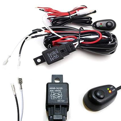 amazon com: ijdmtoy (1) 6ft long led light bar relay wiring harness w/led  indicator light on-off switch: automotive
