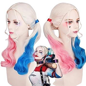 thematys Peluca Harley Quinn - Accesorios de Vestuario para Damas Carnaval y Cosplay - Ideal para Combinar con el Vestuario