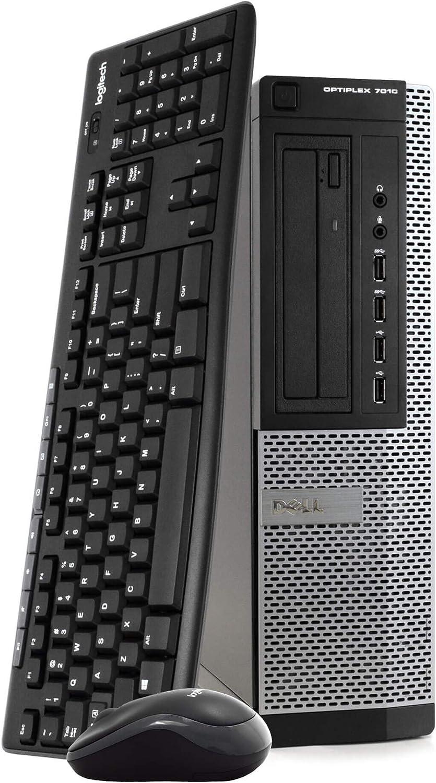 Dell OptiPlex 7010 Desktop PC Computer - Intel Quad Core i7-3770, 8GB RAM, 500GB Hard Drive, Windows 10 Professional, New 16GB Flash Drive, Wireless Keyboard & Mouse, DVD, WiFi (Renewed)