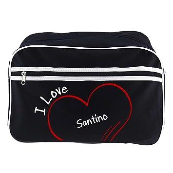 Diseño de bolso bandolera I Love santino colour negro