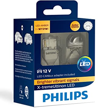 Philips X-tremeUltinon LED WY21W Ámbar Señal Coche Bombillas (Pack Doble): Amazon.es: Coche y moto