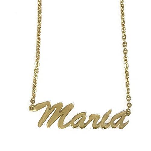 Foreverlove Collar María Nombre Acero Inoxidable: Amazon.es ...