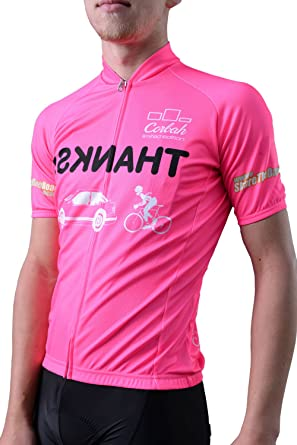 Don t Run Me Over 3.0 Short Sleeve Pink Fluorescent High Visible Cycling  Jersey ( 508c2ff58