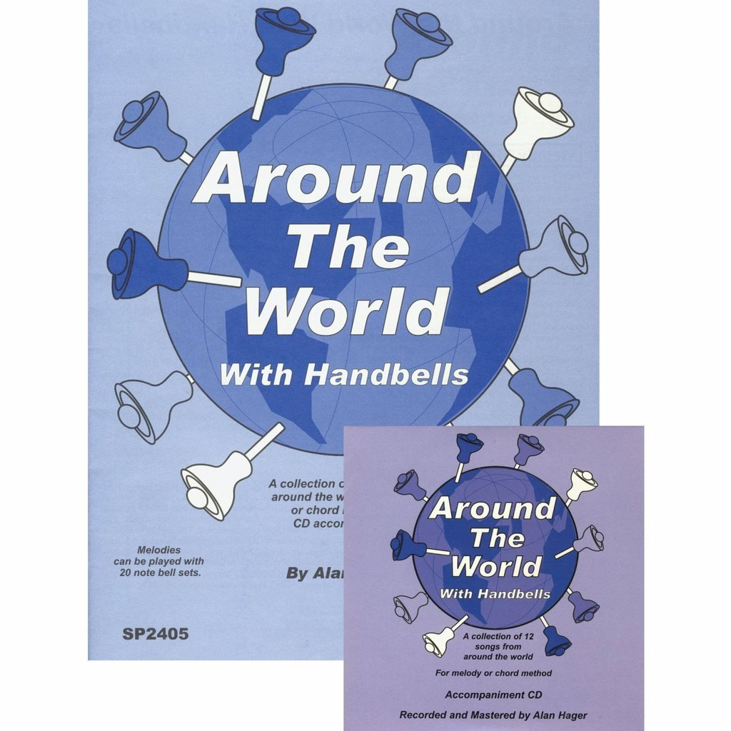 Hager Around the World with Handbells Song Book with CD (12 Songs; All Ages)