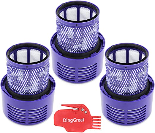 DingGreat Paquete de 3 Lavable Filtro de Repuesto para Aspiradora ...