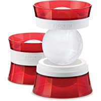Zoku ZK118 Ice Ball Ice Sphere Mould, Set of 2,Red & White