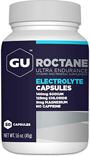 GU Energy Roctane Ultra Endurance Electrolyte Capsules, 50-Count Bottle
