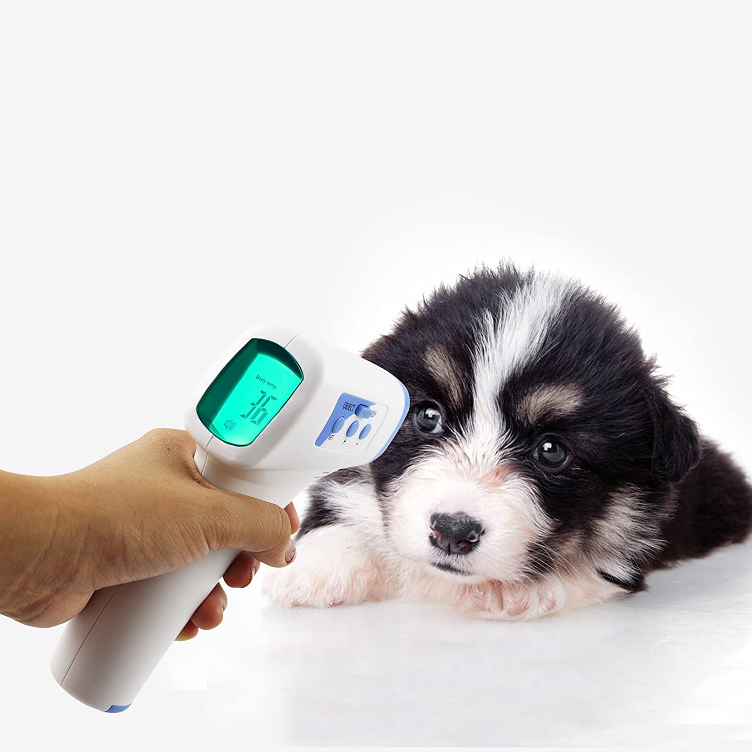 Weallnersse Digital Infrared Forehead Thermometer Gun For Baby Adult Multi Function Non Contact Body Kids Adu Adults Pets Object