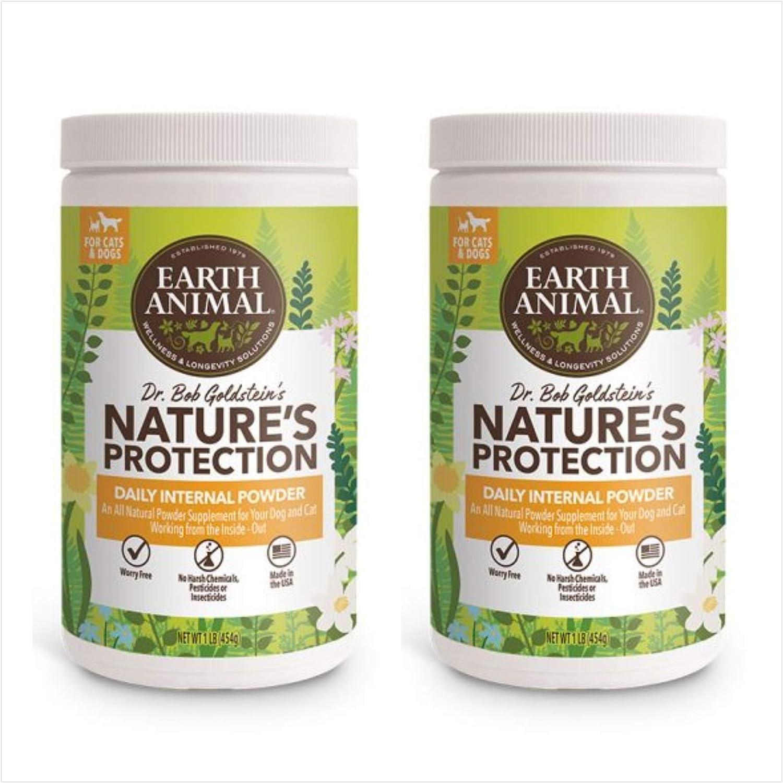 Earth Animal (2 Pack) Flea and Tick Internal Powder 1 Pound Each