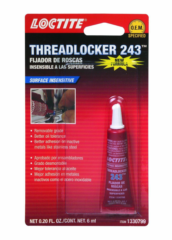 Loctite 1330799-6PK Blue Oil Resistant Threadlocker 243 - 6 ml Tube, (Pack of 6) by Loctite