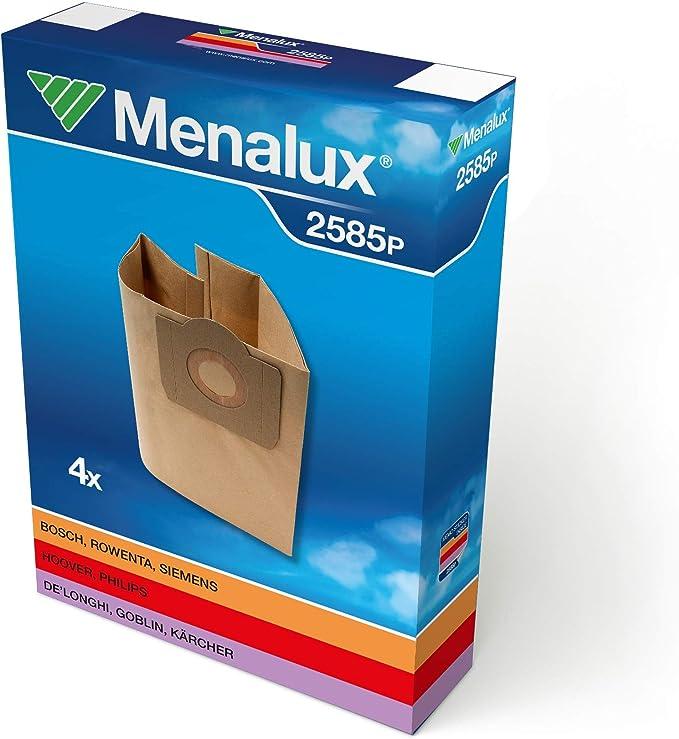 Menalux 2585 P - Bolsas para aspiradoras Siemens, Bosch, Fakir, Hoover, Phillips y Rowenta (4 unidades): Amazon.es: Hogar