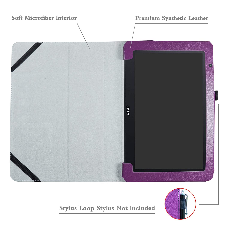 Slim Ultra Pelle Sottile e Leggera Cover Case Custodia per 10.1 Acer One 10 S1003 Tablet,Nero LFDZ Acer One 10 S1003 Custodia