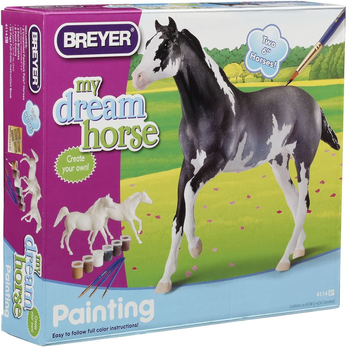 Bundle of 4 Horses Unpainted Breyer Stablemate Model Horses New in pack