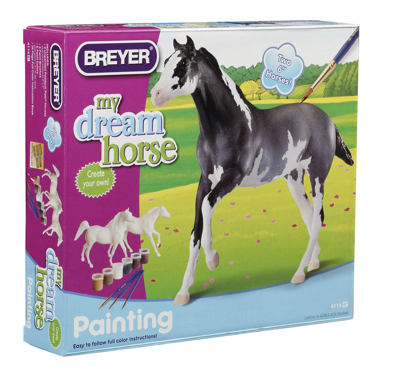Breyer Paint Your Own Arabian and Thoroughbred Horse Craft Activity Set by Breyer