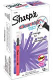 Sharpie Clear View Highlighter Stick, Chisel Tip, Fluorescent Coral, Box of 12 (1964388)