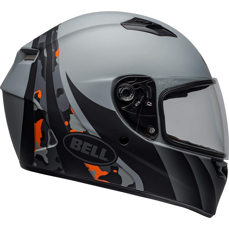 Bell Street 2019 Qualifier STD color negro mate y naranja talla peque/ña Casco para adulto