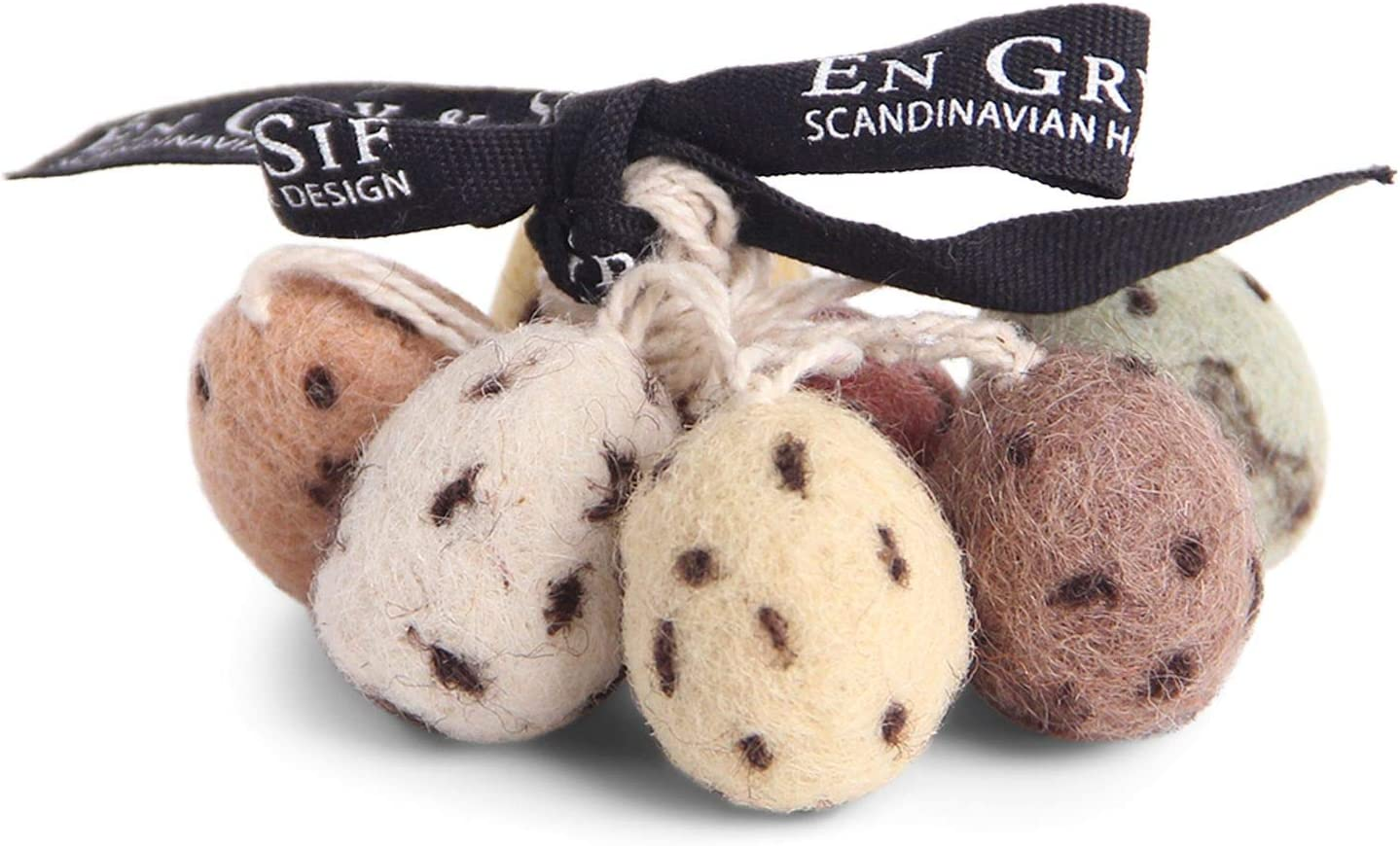 /Én Gry /& Sif Mini Osteranh/änger Eier aus Filz Natur 7er Set Fair Trade Dekoration Ostern I Filz-Anh/änger