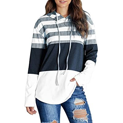 Alaroo Womens Casual Ombre Pullover Hoodies Sweatshirts with Button and Pocket at Amazon Women's Clothing store