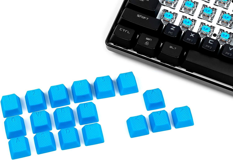 Vulture Rubber Doubleshot OEM Shine-Through Keycaps - Blue