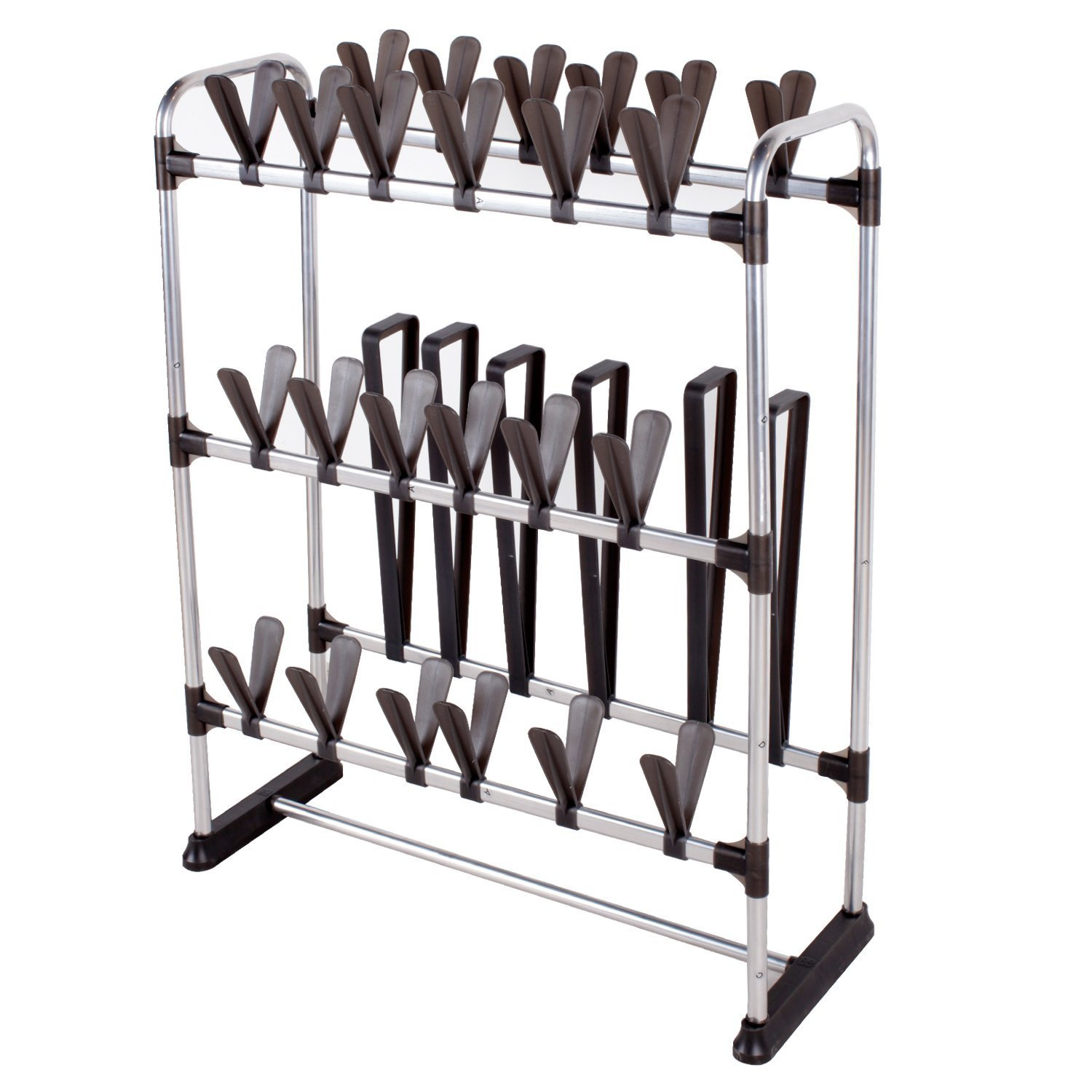 STORAGE MANIAC Space-Saving Standing Shoe Rack for 24 Pairs of Shoes and 3 Pairs of Boots