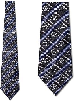 Corbata de seda a cuadros azul Darth Vadar - Corbatas de Star Wars ...