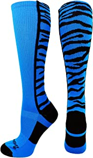 product image for MadSportsStuff Crazy Socks with Safari Tiger Stripes Over The Calf Socks (Multiple Colors)