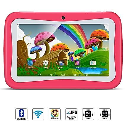 Tablet para Niños, QIMAOO, Tablet Infantil de 7 Pulgadas iWawa Software Pre-Instalado
