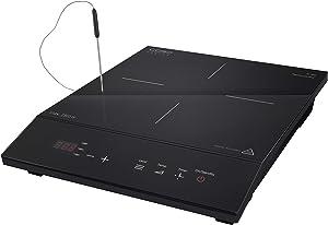Caso Design Chef Thermo Control Single Induction Burner with Temperature Probe, 1, Black