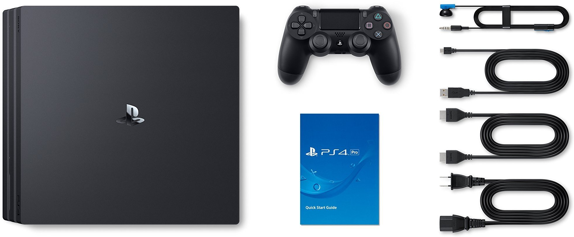 Newest SONY Playstation 4 Pro 4K HDR Gaming Console with Dualshock 4 Wireless Controller | 802.11a/b/g/n/ac | BD x 6 CAV | Customize Your Own Special PS4 Storage Upto 1TB/2TB HDD & SSD