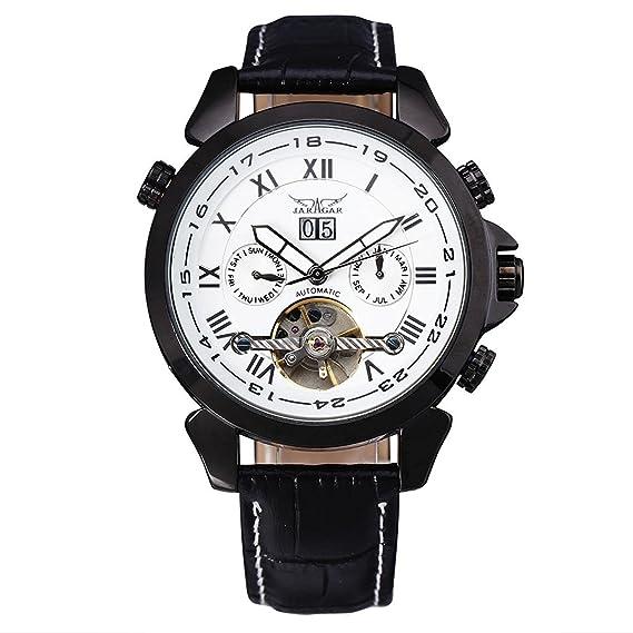 JARAGAR hombre automático mecánico volando Tourbillon Vogue reloj Relogio Masculino macho reloj de pulsera Montre Homme