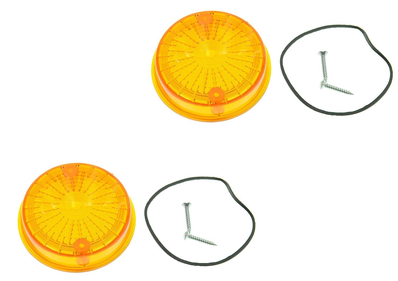 Blinkerkappe rund hinten 1 Paar passend f/ür MZ SIMSON orange mit Pr/üfzeichen