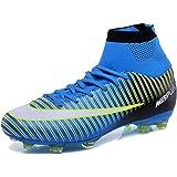 7e276cc6b85fc KAMIXIN Chaussures de Football Homme High Top Adulte Professionnel Chaussure  de Foot Antidérapant Athlétisme Entrainement Adolescents